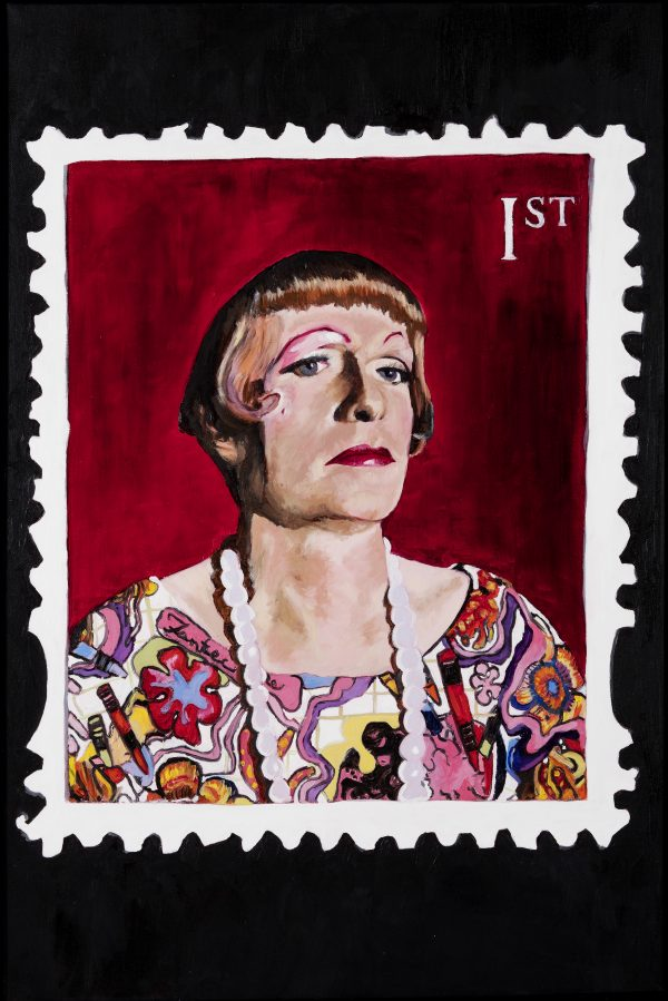 No 5 Grayson Perry Portrait on a 1st class stamp