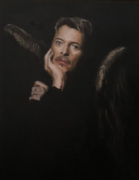 David Bowie art, Look up here I'm in heaven now David Bowie art