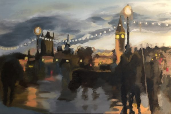 after the london rain fine art painting of london