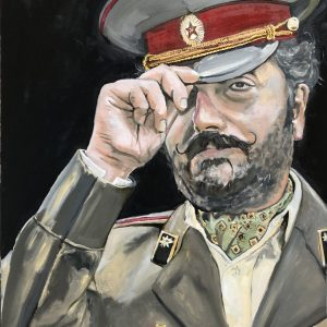 Comrade Enver ww2 art painting