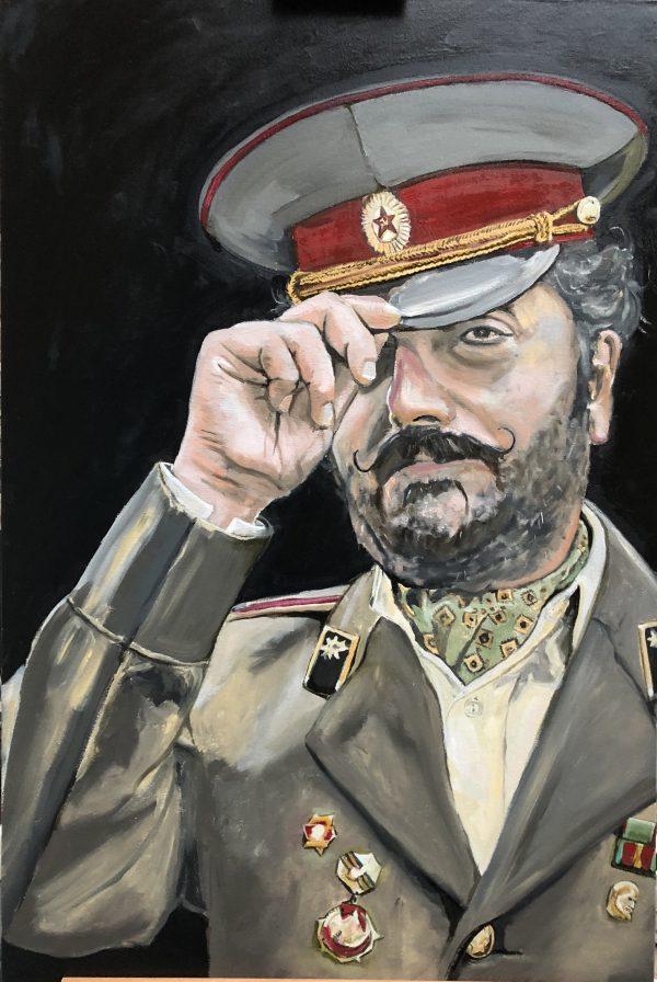 Comrade Enver ww2 art painting