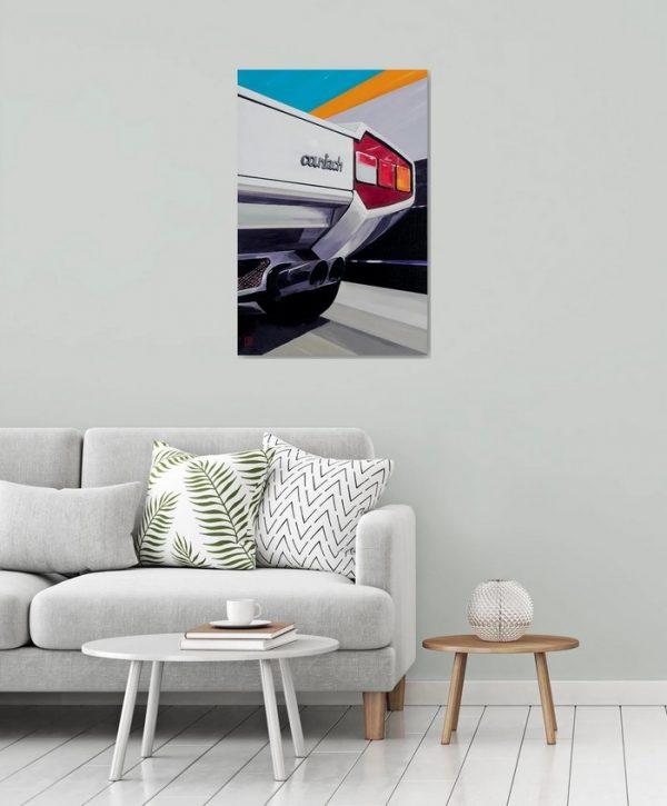 Lamborghini Countach LP400 man cave art