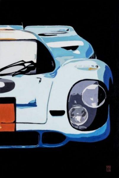 Porsche 917 le mans motor art