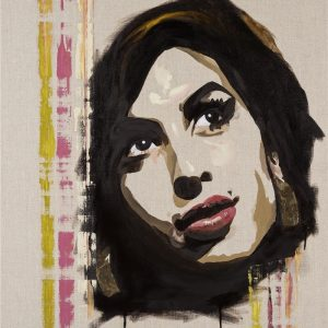 Back to Black painting art of Amy Winehouse