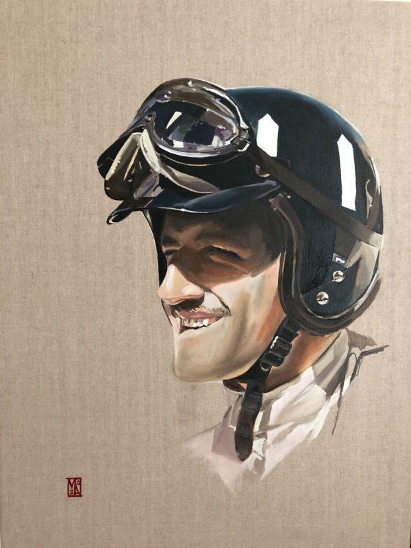 78th Goodwood Members Meeting 2021Gentleman Driver Graham Hill Fine art car painting