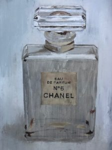 Vintage Chanel Perfume Bottle Painting