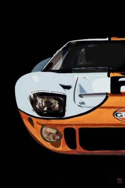 Ford vs Ferrari Ford GT40 Gulf Car Art Painting