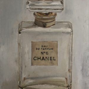 Reflections Chanel No 5 Perfume Bottle fine art Painting
