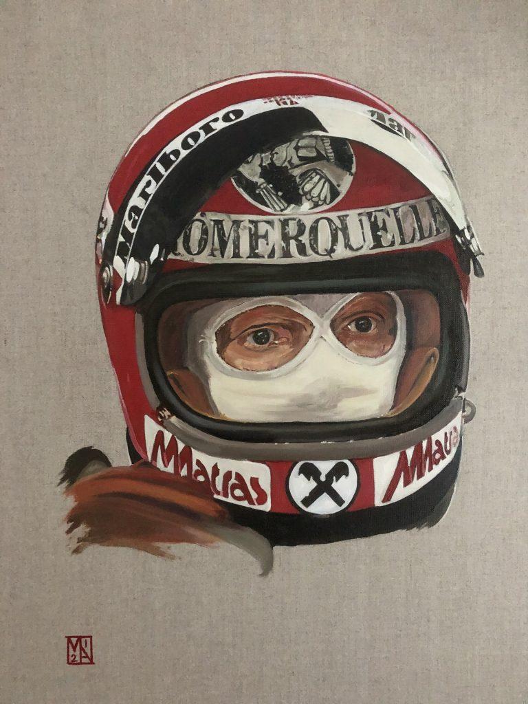 Niki Lauda Portrait by artist Martin Allen