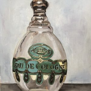 Memories 4711 cologne bottle art oil painting