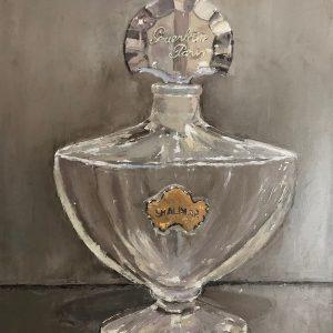 Vintage Guerlain Shalimar Perfume Bottle Oil Paintings