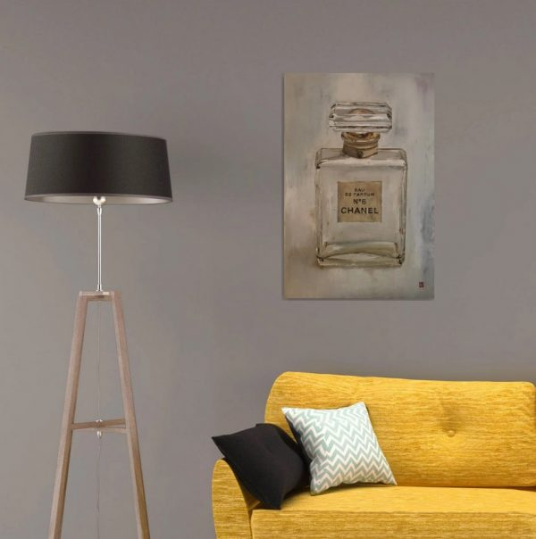 Chanel No 5 perfume wall art oil painting
