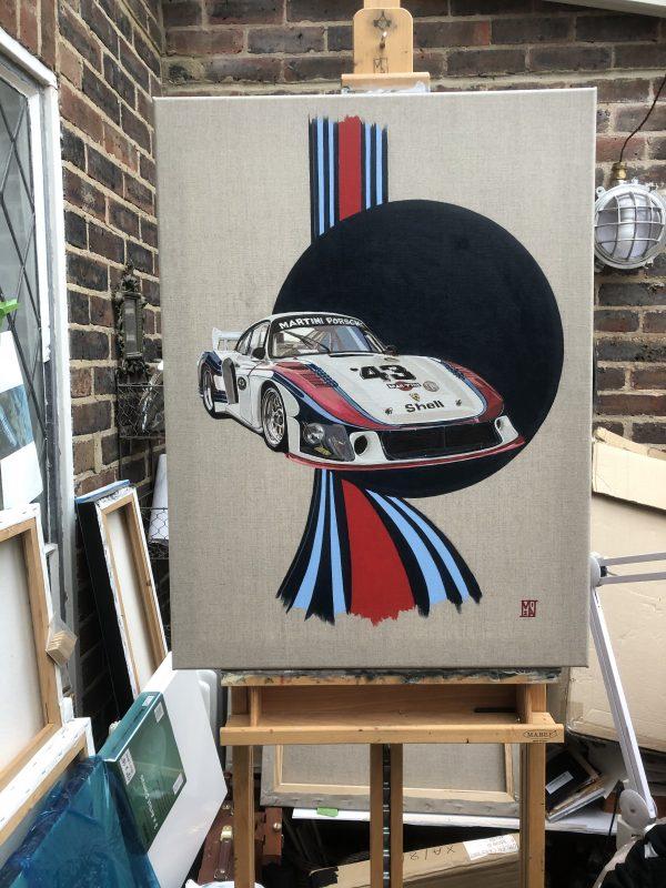Vintage Le Mans team Martini Racing Porsche Car Classic original style nostalgia retro man cave gift poster print