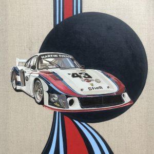 Martini Racing Porsche 935 motor racing art painting poster